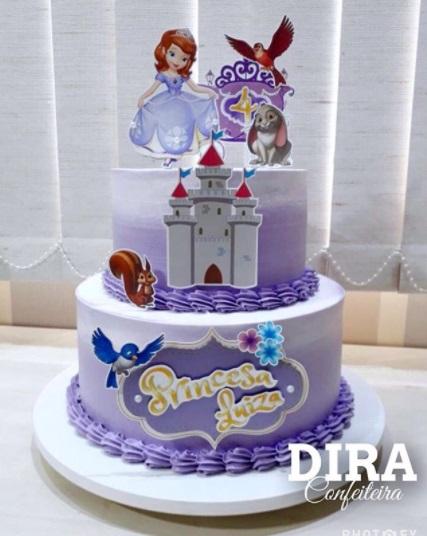 bolo da princesa sofia 2 andares