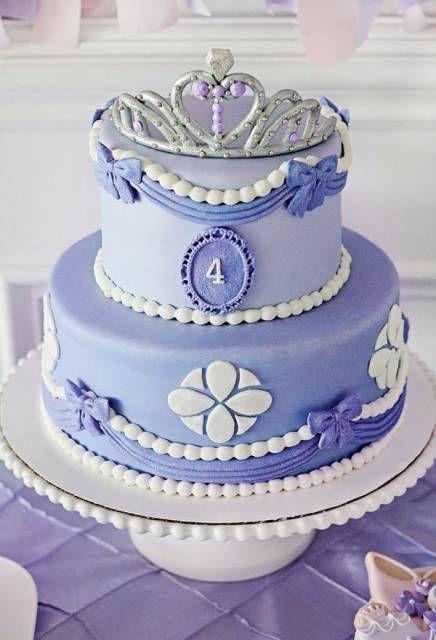 bolo da princesa sofia com pasta americana
