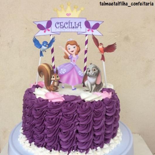 bolo da princesa sofia simples