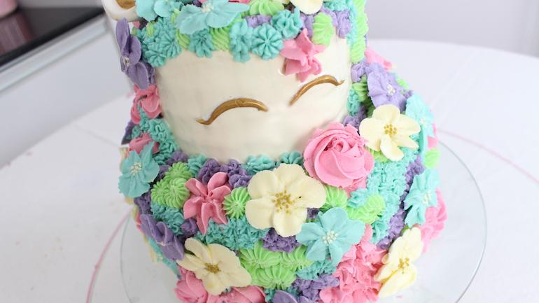 bolo de unicórnio 2 andares