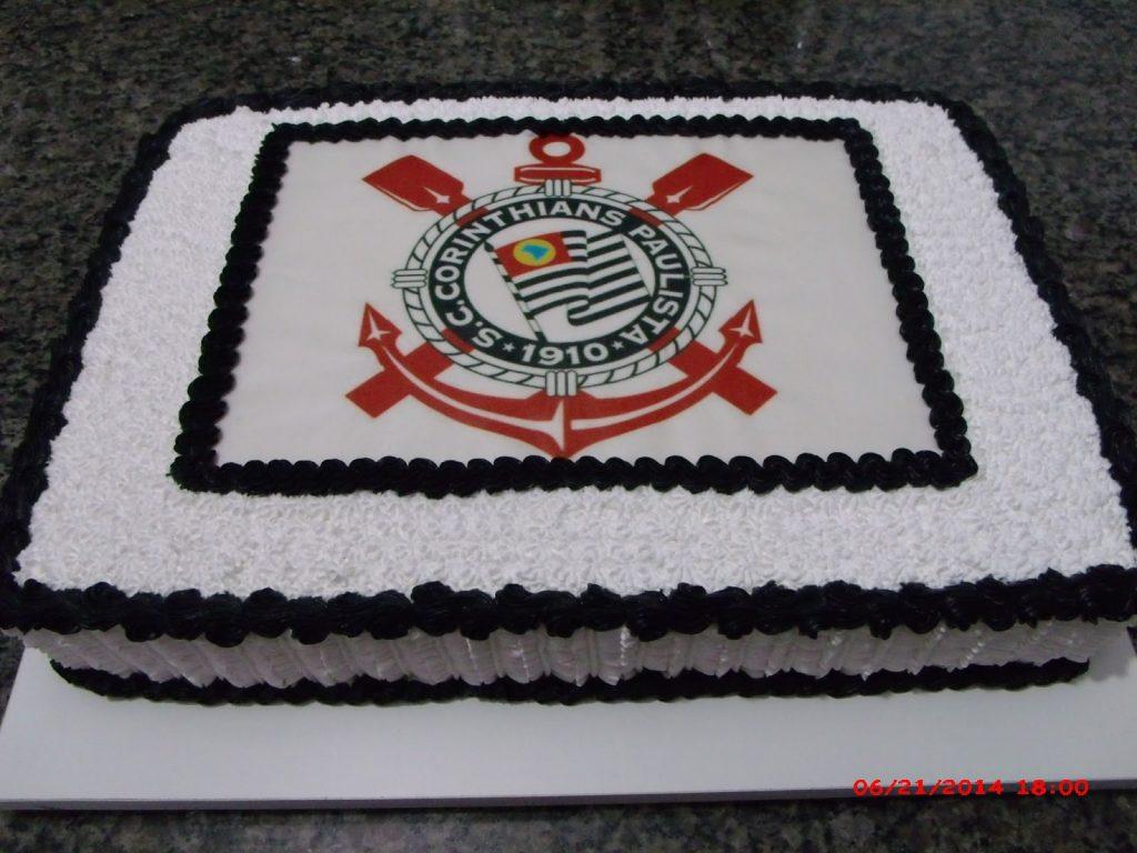 Bolo do Corinthians quadrado
