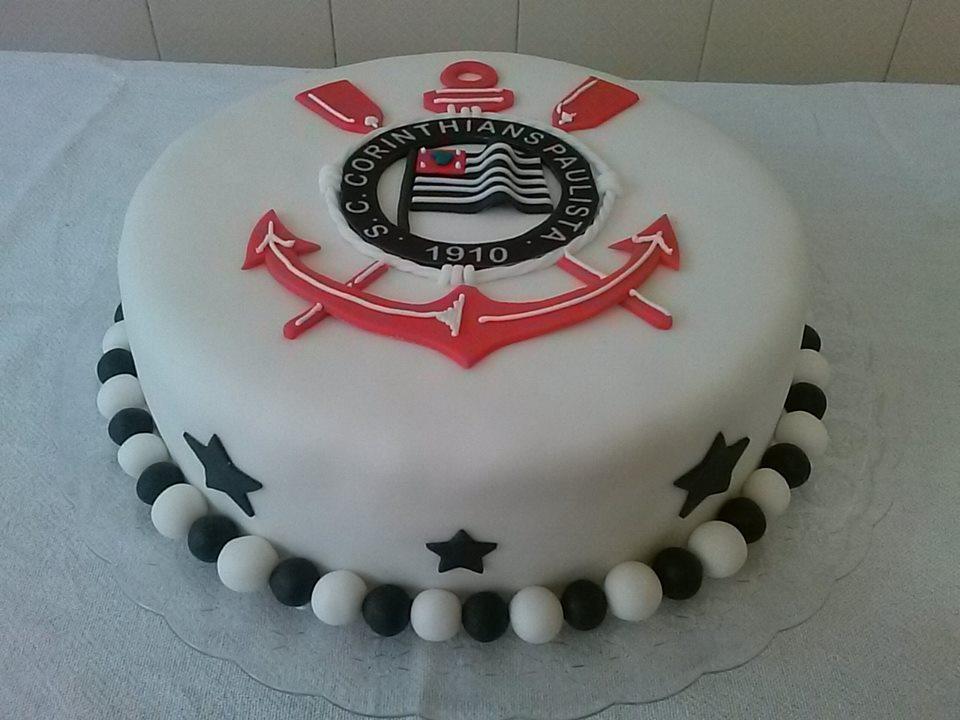 Bolo do Corinthians redondo