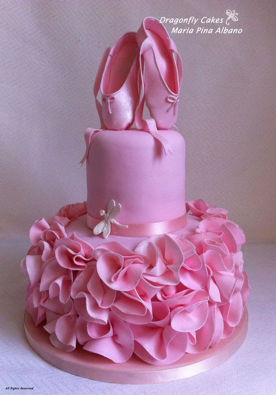 bolo bailarina rosa
