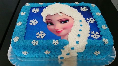 bolo da Frozen quadrado