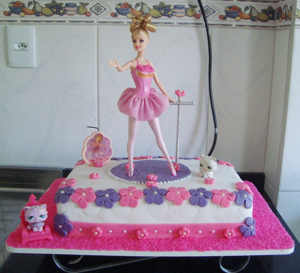 bolo da barbie bailarina
