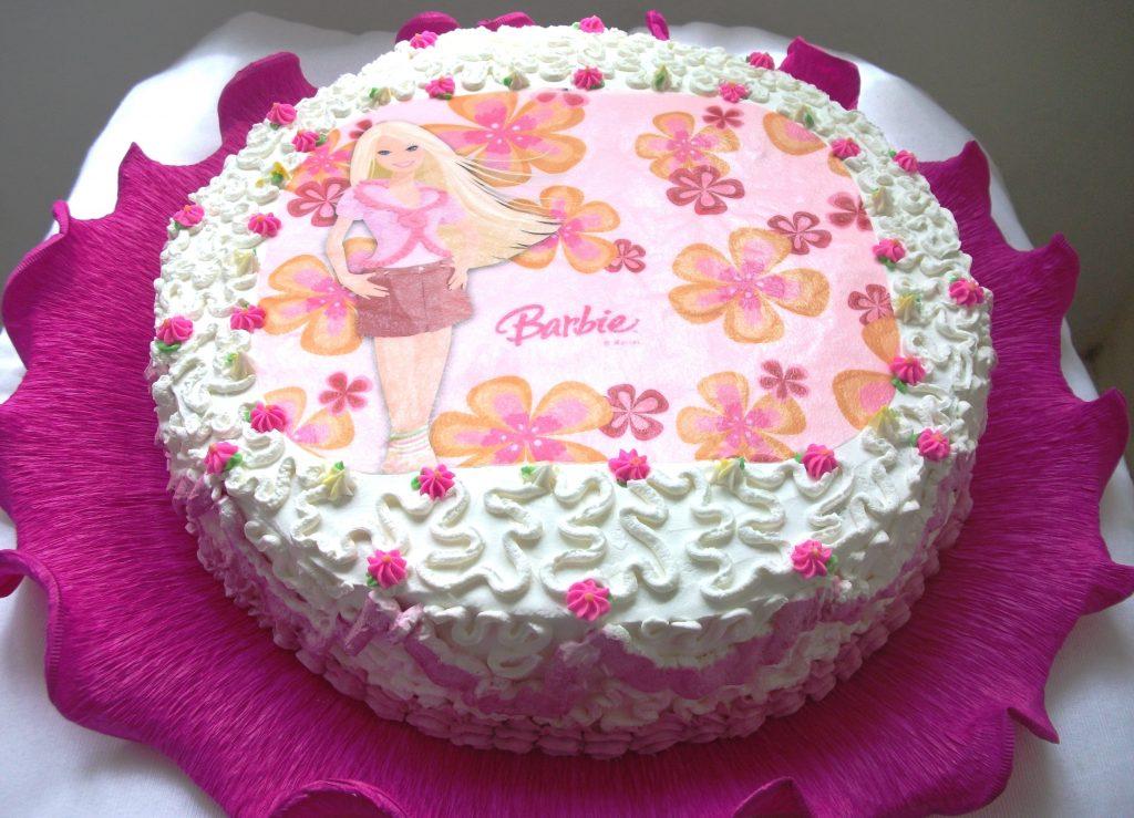 bolo da barbie de chantilly