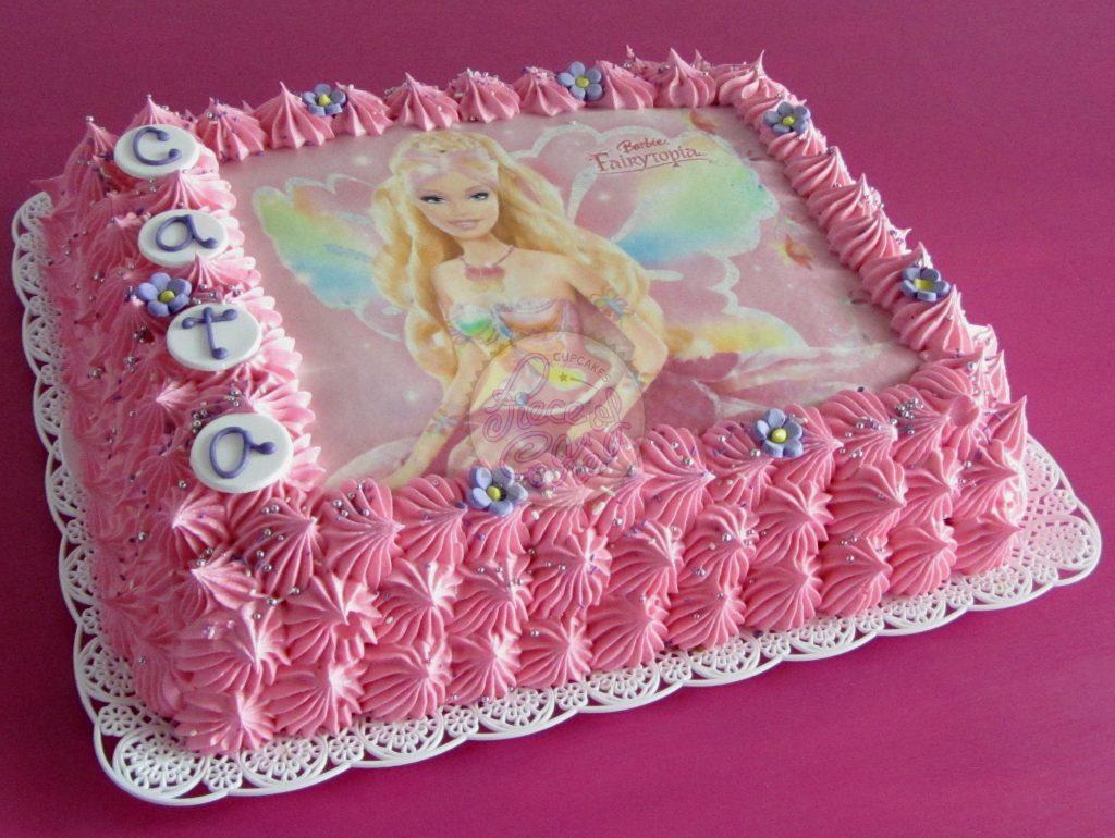 bolo da barbie quadrado