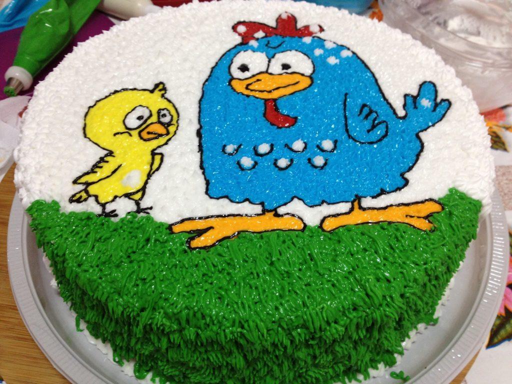 bolo da galinha pintadinha de glace