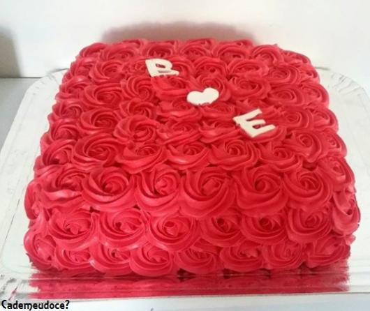 bolo de noivado quadrado