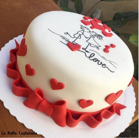 bolo de noivado simples