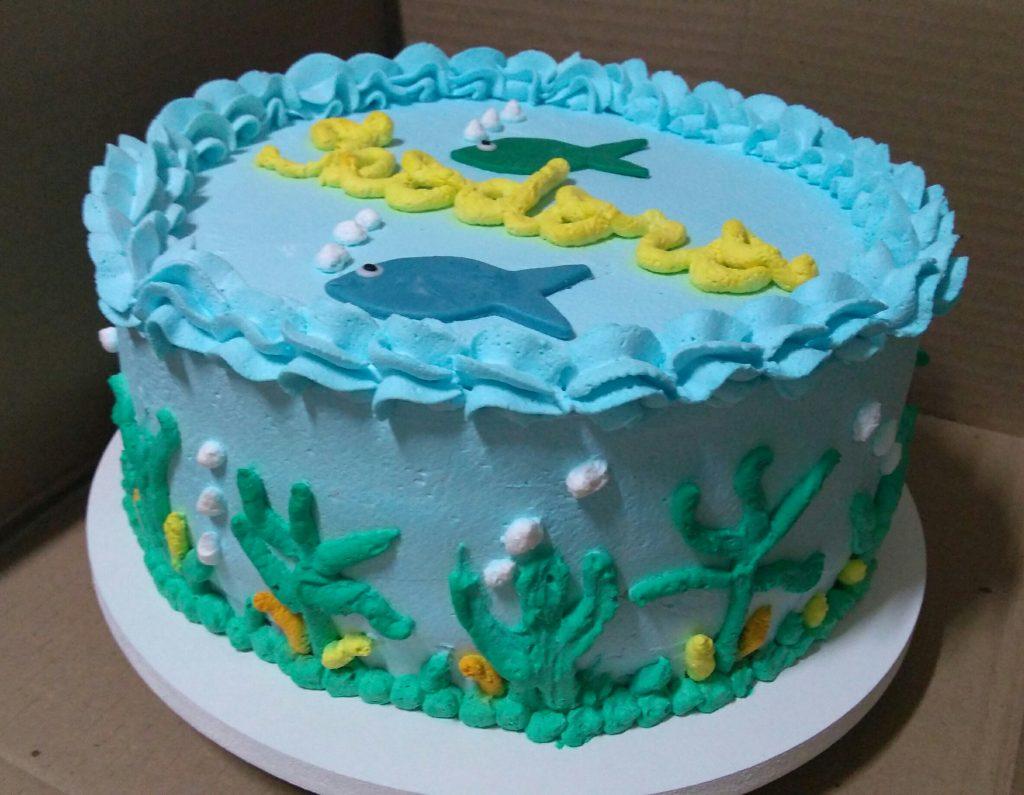 bolo fundo do mar chantilly