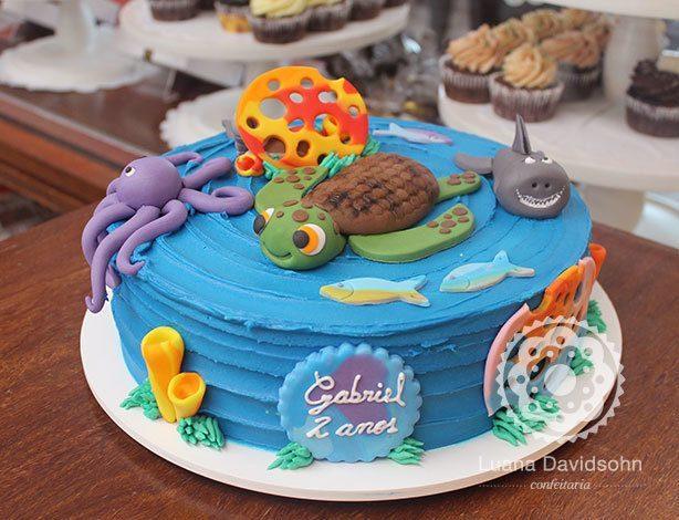 bolo fundo do mar pasta americana