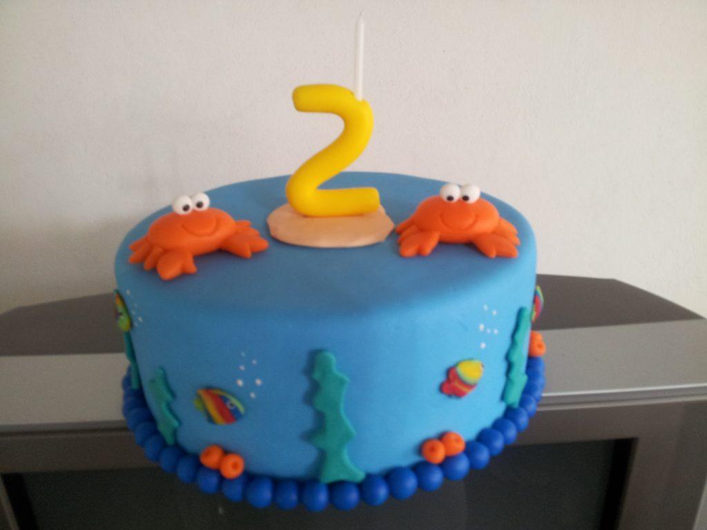 bolo fundo do mar simples