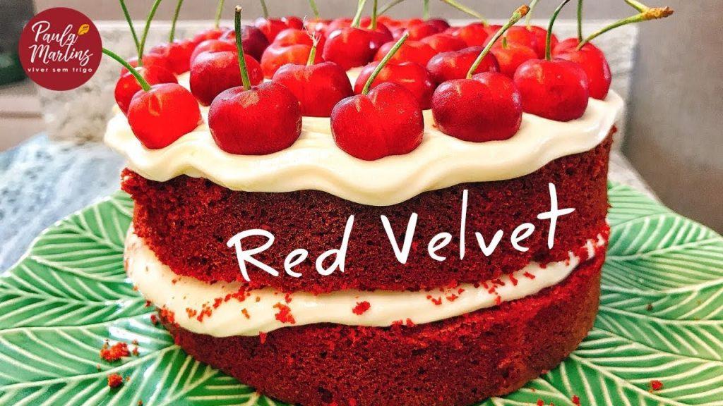 Bolo Red Velvet com beterraba