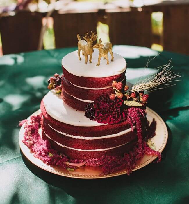 Bolo Red Velvet para casamento