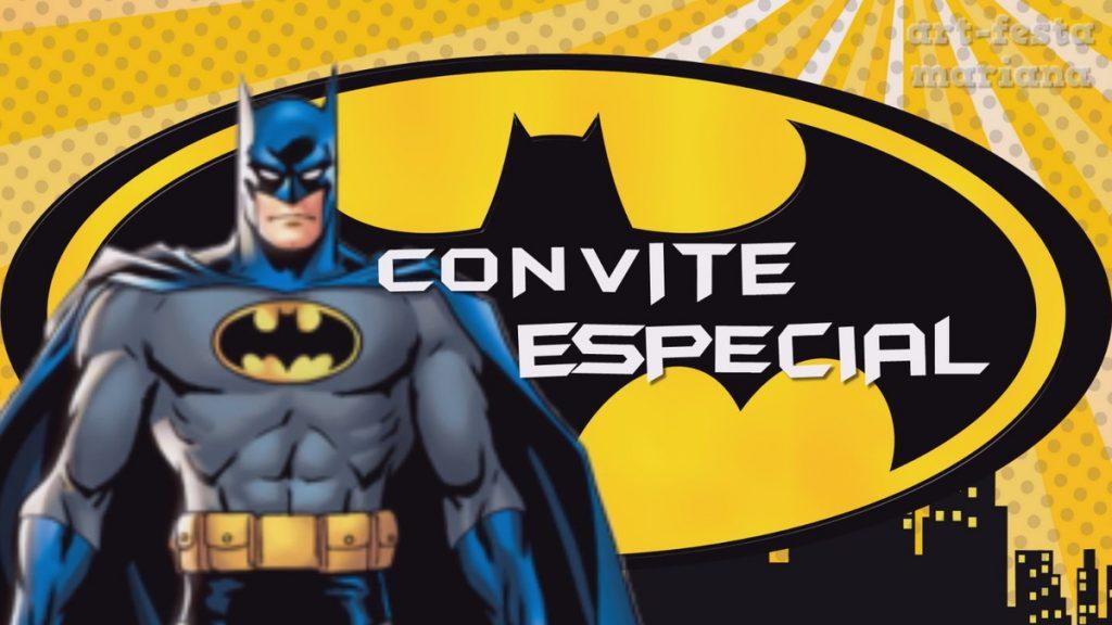 convite animado batman