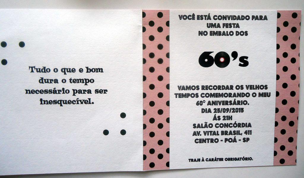 Convite Anos 60 30 Ideias Para Voce Se Inspirar