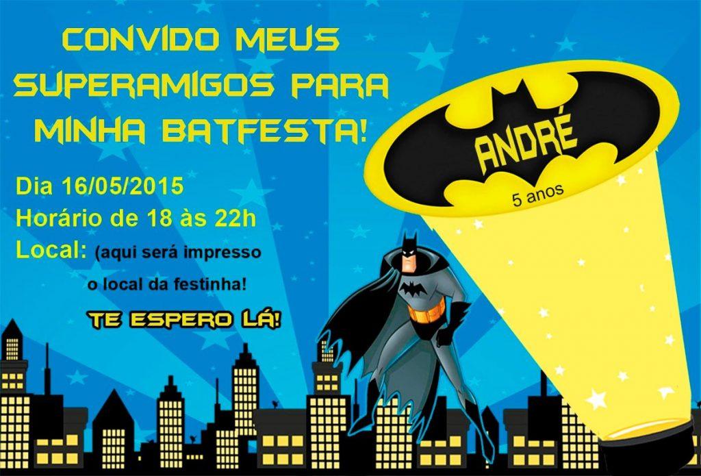 convite aniversario batman gratis