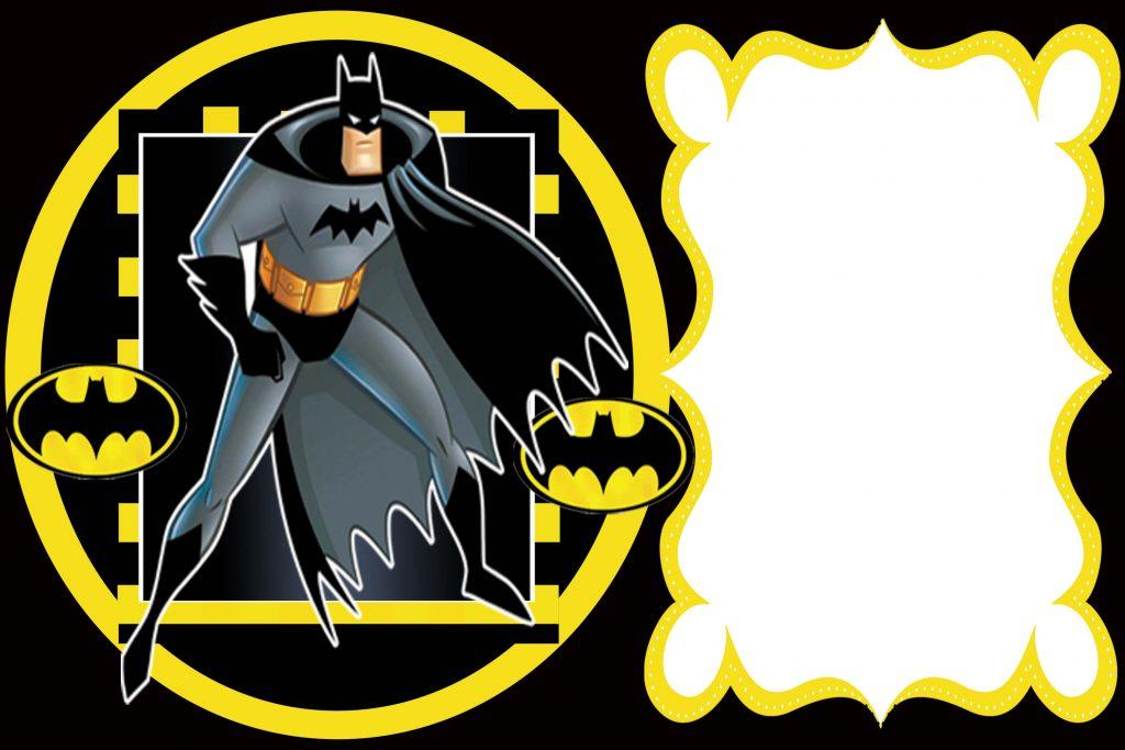 convite aniversario batman para imprimir