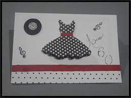 convite anos 60 vestido