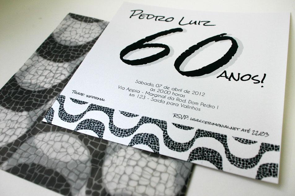 convite de 60 anos masculino