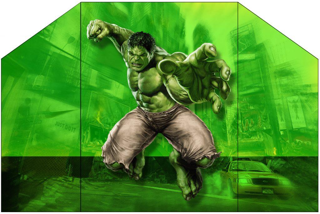 convite do Hulk para imprimir