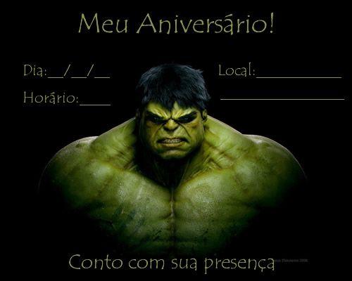 convite do Hulk para imprimir 9