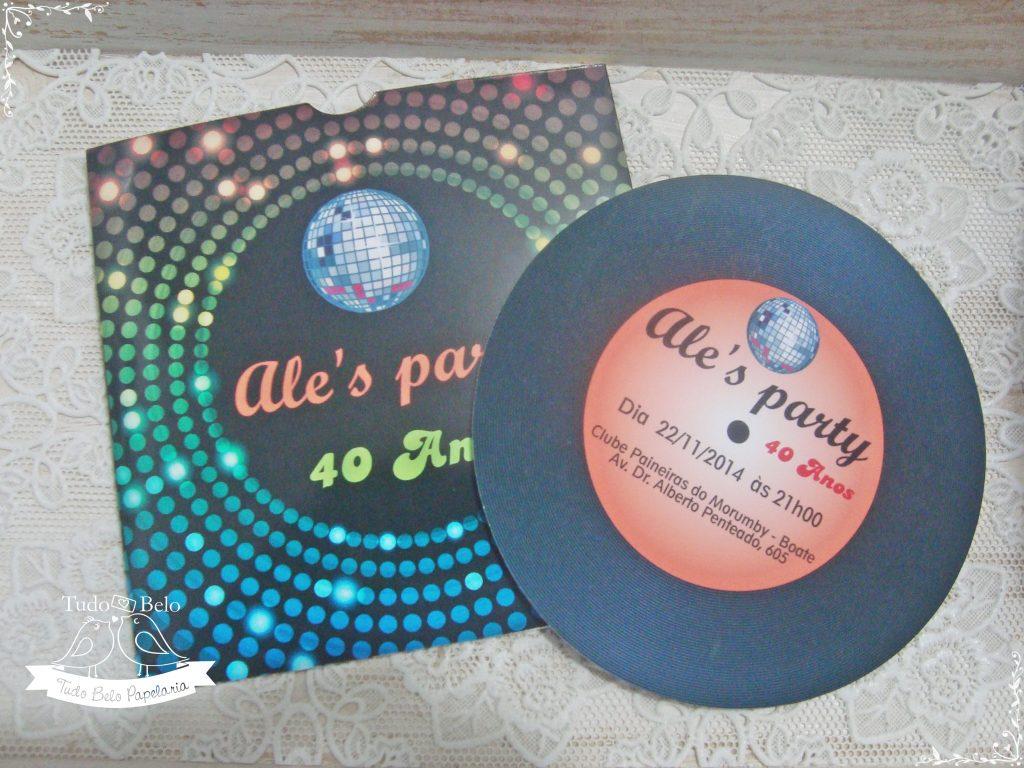 convite festa retrô anos 60 70 e 80