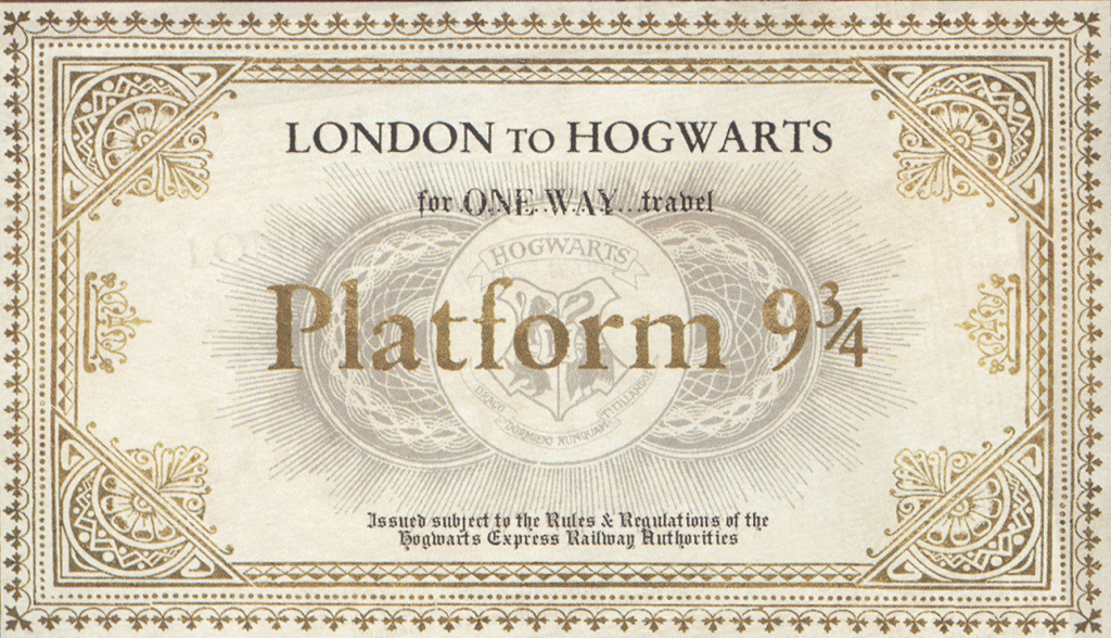 convite harry potter plataforma 9 3/4