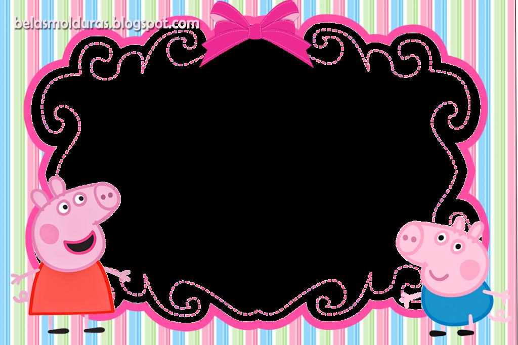 convite peppa pig para editar