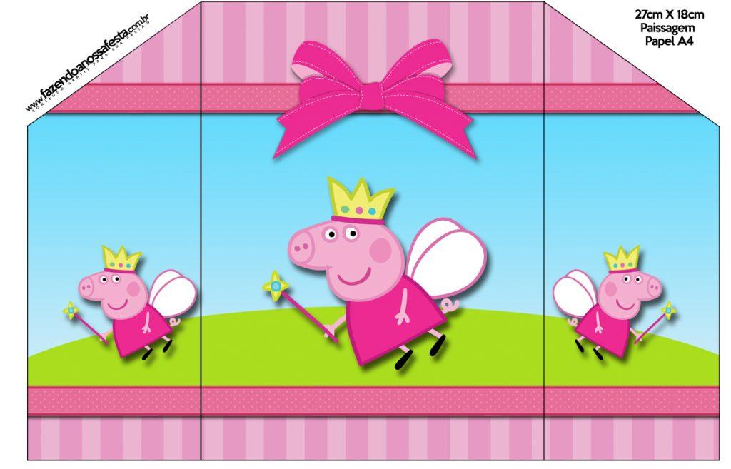 convite peppa pig princesa