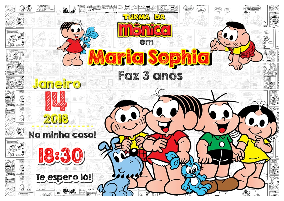 convite turma da Mônica gratis