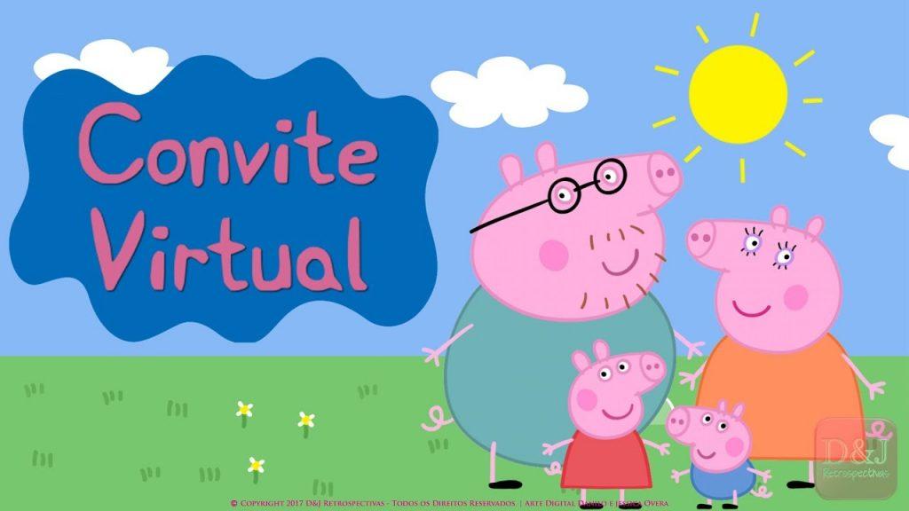 convite virtual peppa pig gratis