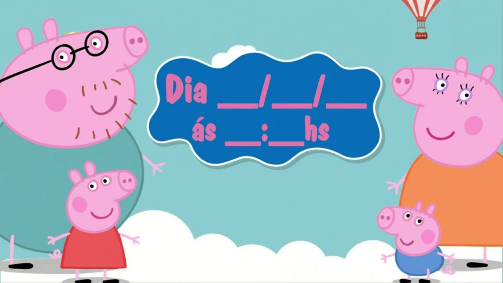 convite virtual peppa pig gratis