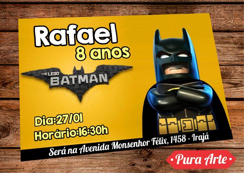 convites batman lego
