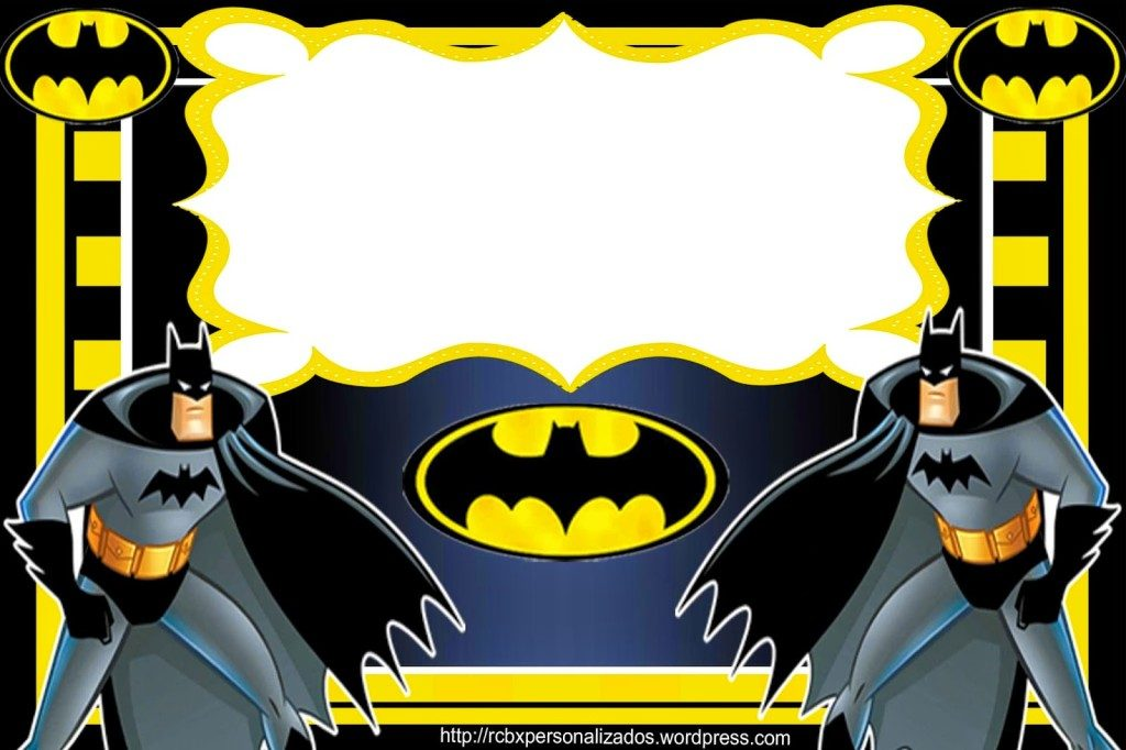 convites do batman para editar
