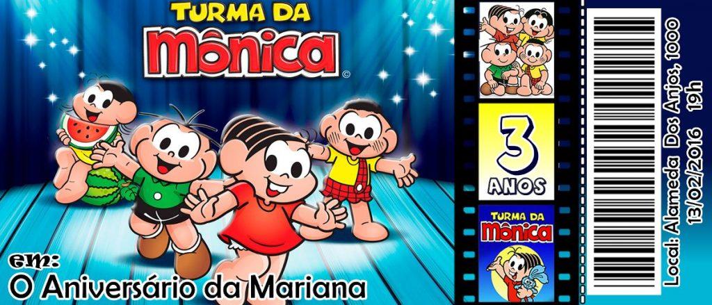 convites personalizados turma da Mônica