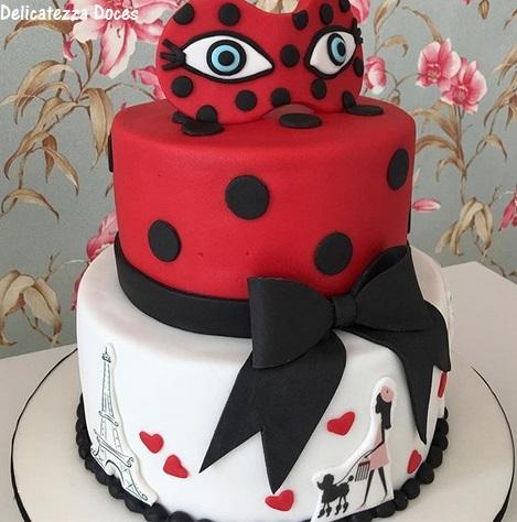 Bolo ladybug 2 andares