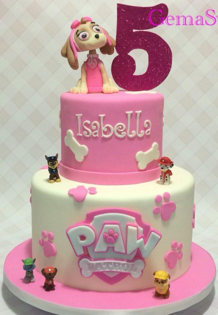 bolo patrulha canina rosa