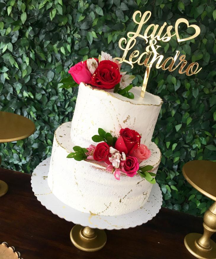 bolo de noivado dois andares