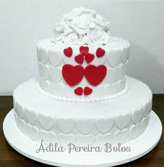 bolo de noivado com pasta americana