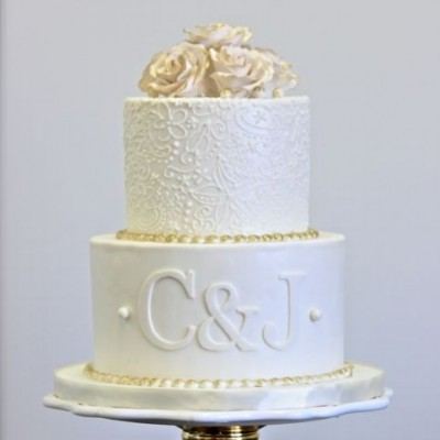 bolo de noivado branco