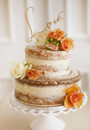 bolo de noivado rústico