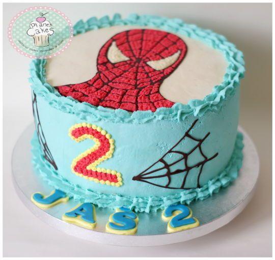 bolo do homem aranha de chantilly