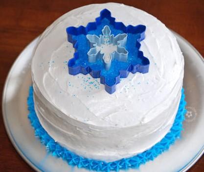bolo da frozen simples