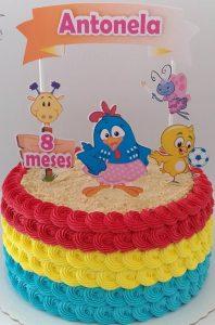 bolo da galinha pintadinha glace