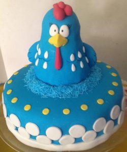 bolo galinha pintadinha pasta americana