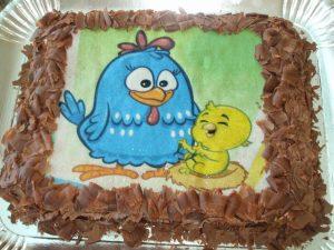 bolo galinha pintadinha simples