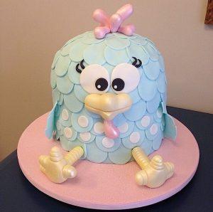 bolo galinha pintadinha rosa e azul