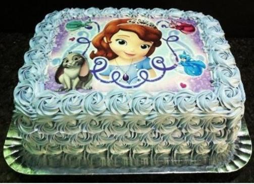 bolo princesa sofia com papel arroz
